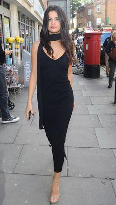 Selena Gomez  Atea Oceanie Slip Dress