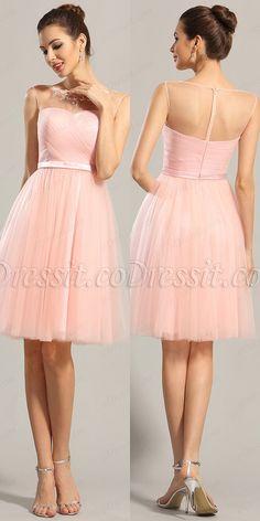 eDressit Sleeveless Sweetheart Pink Party Dress Cocktail Dress Pretty  Little Dress fc4ffb05f338