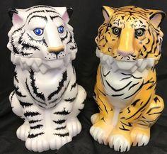 Ringling Brothers Circus Tiger Cup White Yellow Orange Lidded Souvenir Mugs Set  | eBay