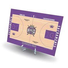 Sacramento Kings Replica Basketball Court Display, Size: Novelty, White