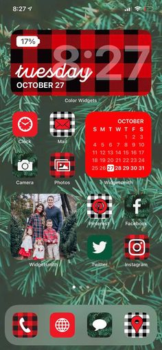 IPhone Apps App Designs Christmas Aesthetic iPhone ios14 App | Etsy Iphone App Design, Iphone App Layout, Iphone Home Screen Layout, Christmas Apps, Christmas Themes, Plaid Christmas, Christmas Icons, Green Christmas, Xmas