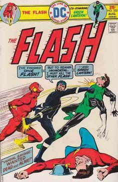 DC Comics The Flash Classic Comic Book Cover. Featuring The Flash (Jay Garrick), Green Lantern (Hal Jordan) and Vandal Savage Comic Books For Sale, Dc Comic Books, Vintage Comic Books, Comic Book Covers, Vintage Comics, Comic Art, Flash Comic Book, Vandal Savage, Flash Comics
