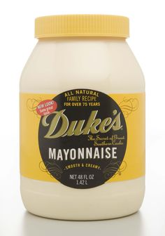 A South Carolina founded Company with a recipe by Eugenia Duke in 1917… .Now made in Simpsonville, S.C..Duke's Mayonnaise is the best ever!