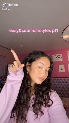 Cute Curly Hairstyles, Curly Hair Tips, Baddie Hairstyles, Girl Hairstyles, Easy Teen Hairstyles, Mixed Curly Hair, Athletic Hairstyles, Wavy Hair Care, Big Curly Hair
