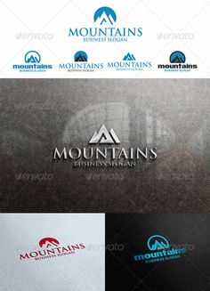 Mountains Peak Logo Templates — Vector EPS #identity #peak logo • Available here → https://graphicriver.net/item/mountains-peak-logo-templates/4798643?ref=pxcr