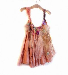 Hippi Artistic Cotton Tunic APRICOT GARDEN  Lovely Girls Boho  Etno Rustic Romantic Country. $145.00, via Etsy.