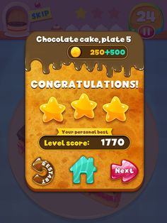 Game UI  Mobile Design - Cute chocolate cake game Game UI on Behance