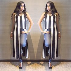 MAJOR MINIMALISM: Who Knew Classic Monochrome Stripes Could Be So MAJOR?! Look styled by @trishnabajaj #MadisonBloggerBlast #MadisonLimitedEdition #bloggerblast #fashionblogs #monocrome #Capes #MajorMinimalism #Classic #Comfortable #Chic #MadisonFresh  #MadisonEdge #stripes #fringe #shopmadison by madison_onpeddar
