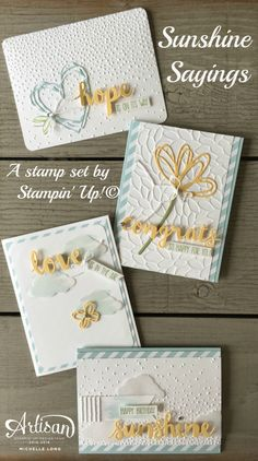 Sunshine Sayings stampin365.com - SU - CARDS, STAMP OF THE MONTH CLUB, SUNSHINE SAYINGS - STAMPIN' UP! - by Michelle Long