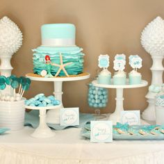 Underwater perfection! This TomKat Studio birthday party has it all: mermaids, cake pops, tutus, and more!