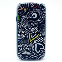 Black Comics Heart Pattern Soft Case for Samsung Galaxy S3 I9300 – EUR € 4.79