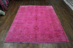 5×8 Overdyed Hot Pink Turkish Ushak Rug 2784 Unique one of a kind imported new rug from the West of Hudson collection. Handknotted over-dyed rug – Turkish Ushak design. 100% wool pile. Exact size is 5'7 x 7'9  Pink, cognac. Beautiful Muted accent colors.  - See more at: http://westofhudson.com/product/5x8-over-dyed-hot-pink-turkish-rug-woh-2784/#sthash.yBWUfbLU.dpuf