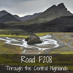 Road F208 central highlands Iceland