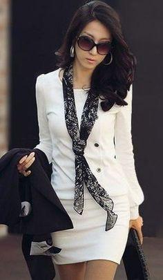 vestido de manga comprida social