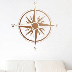 Compass Decal Copper, $30, now featured on Fab. Would like this for the bedroom.