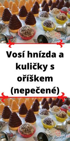Vosí hnízda a kuličky s oříškem (nepečené) Cereal, Breakfast, Sweet, Recipes, Food, Morning Coffee, Candy, Essen, Eten