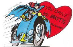 Batgirl Valentine 1966! You Drive Me Batty, Valentine!