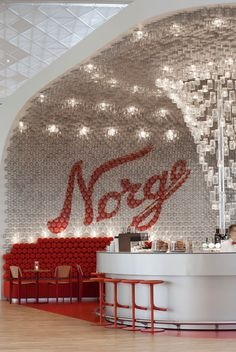 Over 4,000 Glass Jars Have Been Used To Line The Walls And Ceiling Of This Airport Bar In Oslo