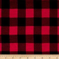 Jersey Knit Buffalo Print Fuchsia Black