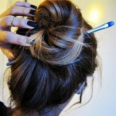 No other pens or hair ties lying around? Use a makeup brush!