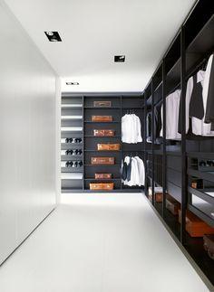 Furniture, Cool Black Wardrobe With Vintage Brown Leather Suitcase :#wardrobes #closet #armoire storage, hardware, accessories for wardrobes, dressing room, vanity, wardrobe design, sliding doors, walk-in wardrobes.
