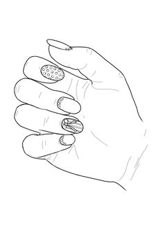 Coloring page from the Nail Art Adult Coloring Book