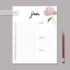 Dec.2015 ~ Dec.2016 : 13 months   This is a one of a kind beautiful monthly planner.  Each page has plenty of space for you to jot down any important