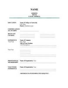 Blank Resume Fill In The Blank Resume  Bing Images  Places To Visit  Pinterest