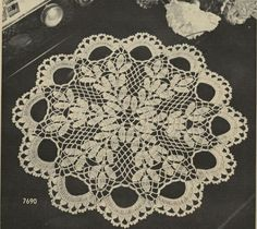Vintage doily pattern PDF. Etsy uk  pdf #crochet doily #afs collection