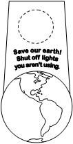 Door Knob Hanger for Earth Day -  Pinned by @PediaStaff – Please Visit http://ht.ly/63sNt for all our pediatric therapy pins
