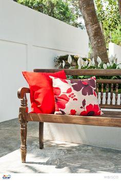 Flores nas almofadas
