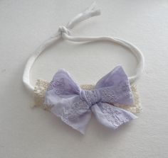 Lavender bow tieback , newborn photo prop organic tieback infant bow headband , toddler tieback bow tieback baby shower gift ivory lilac - All For Hairstyles Newborn Photo Props, Newborn Photos, Newborn Headbands, Baby Girl Headbands, Newborn Tieback, Lilac, Lavender, Baby Bows, Hospital Gifts