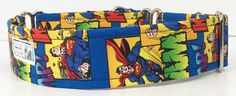 Comic Superman Adjustable Martingale Dog Collar - Made to Order - by JinsK9Kreations on Etsy