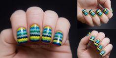 Chalkboard nails: ruffle manicure tutorial
