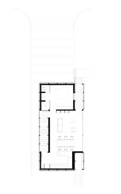 Galeria de Casa VH G / Architecture-Infrastructure-Research - 15 Architecture Panel, Architecture Details, Home Design Plans, Plan Design, Narrow House Plans, Modern Barn House, Apartment Floor Plans, Concrete Houses, Duplex House