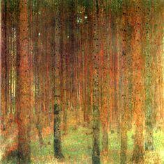 Gustav Klimt, Pine Forest II (1901)