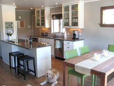 """""""This is our lake-house kitchen. It was done this last year as part of a whole house remodel. We did most of the work ourselves, with some sub-contract help where we needed (after lots of experience, we know our strengths and weaknesses!)."""