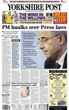How the Yorkshire Post responded to Leveson