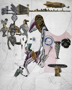 Edward Burra, Collage, gouache, pen and ink, pencil and collage, 1930
