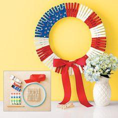 DIY Patriotic Clothespin Wreath