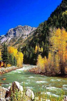 River of Lost Souls, Durango, Colorado, USA, alongside the Durango-Silverton Railroad // Roger Doyon Gorgeous spectacular Colorado. Places To Travel, Places To See, Durango Colorado, Colorado Usa, Silverton Colorado, Colorado Trip, Colorado Mountains, Rocky Mountains, Beautiful Landscapes
