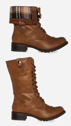 Fold Down Combat Boots!