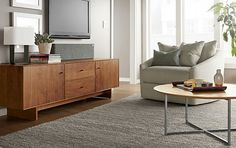 Hudson Media Cabinet with Wood Base - Modern Media - Room & Board
