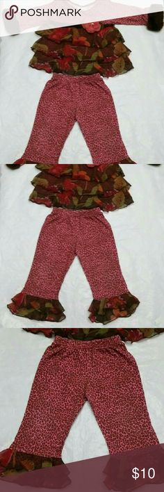Girls Cach Cach 18 Mos Outfit A little fade around waist of pants, still very cute. Cach  Matching Sets
