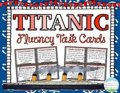 40 Non-Fiction TITANIC Fluency Task Cards with varied sentence types to help your students practice their oral reading fluency! Perfect small group, whole group, or independent center fluency activity.