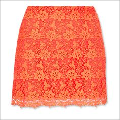 Spring Fashion Trends -- Colorful Lace: Topshop Skirt