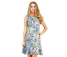 SPRINKLED FLORAL DRESS: Betsey Johnson