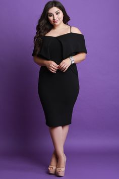 3aeeebe655 Fold Over Cold Shoulder Midi Dress. Plus Size FashionPlus Size DressesProductsToyHow  To WearHemlineCold ...