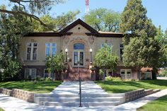 This is actually a private residence now.  Andrew Carnegie Library in Sterling Colorado - photo by: Jeffrey Beall