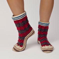 Kalina - Women's Hand Knit Wool Sock.
